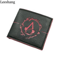 Leeshang Men S Wallet With Coin Purse Minimalist Game Assassins Creed Wallet Leather Men S Wallet