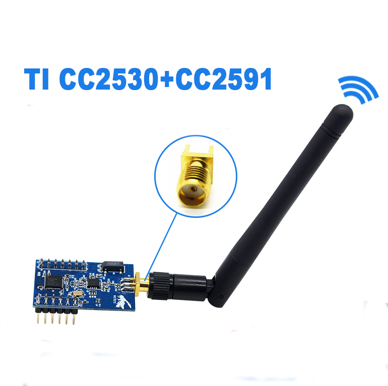 Conversão de zigbee porta serial ttl uart sem fio pa módulo cc2530 + cc2591