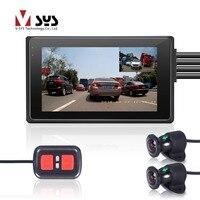 VSYS M2F Wi Fi Двойной FHD 1080 P Видеорегистраторы для мотоциклов регистраторы с 170 градусов Широкий формат спереди и сзади вида мотоцикл Камера реги