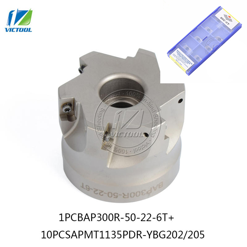 BAP300R*50*22*6T 90 Degree Right Angle Shoulder Face Mill Head CNC Milling Cutter,milling cutter tools,carbide Insert APMT1135