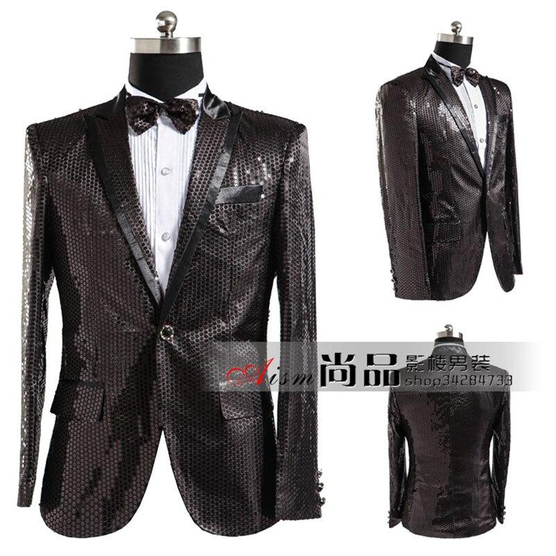 남성 블랙 스팽글 재킷 카사 코 masculino 콘서트 재킷 남성 스팽글 남성 블레이저 masculino 여름 재킷 남성 블레이저 아저씨