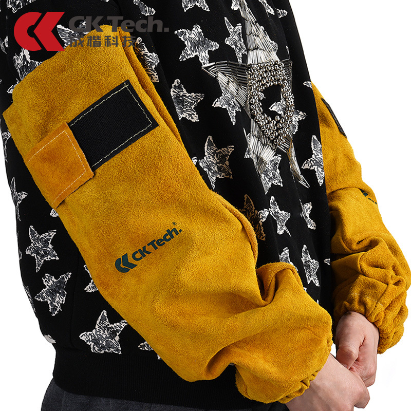 CK Tech Brand New Leather Welding Sleeve Welding Clothes Clothing Welding Equipment Arm Protection For Welder Armprotective9119 welder machine plasma cutter welder mask for welder machine