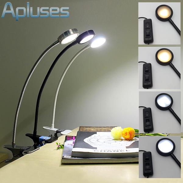 LED Ajustável Luz Eyeshield Candeeiro de Mesa USB Clipe Luz Para Mesa Do Computador PC Estudantes Lâmpada Lâmpada de Leitura Branco/Warm branco