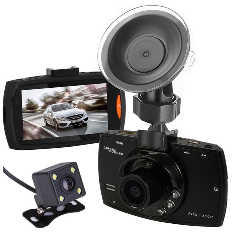 Dual Cameras Car DVR Camera G30 Dash Cam 1080P HD Video Recorder Registrator With Backup Rearview Camera Night Vision Waterproof