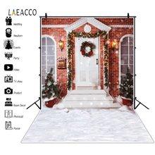 Laeacco Рождественская елка Снежный дом дверь Вечеринка деко