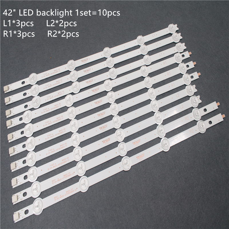 100% New LED Backlight 10PCS For 42inch TV LC420DUE 42LA620V 42LN540V 42LA615V 6916L-1412A 6916L-1413A 6916L-1414A 6916L-1415A