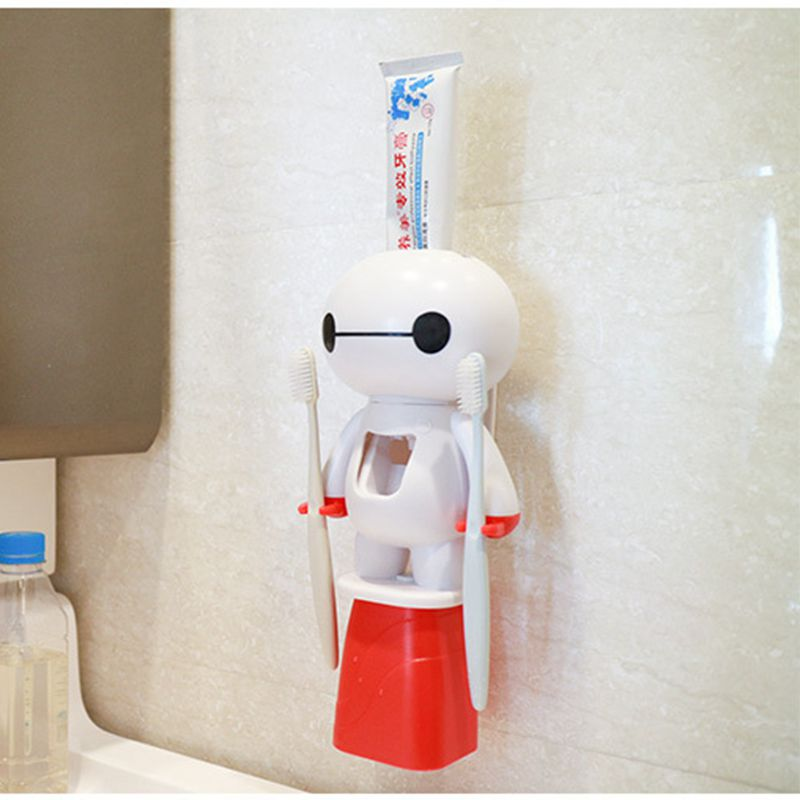 1 Set Tooth Brush Holder Automatic Toothpaste Dispenser Toothbrush Holder Toothbrush Bathroom Tools