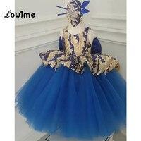 Синий Платья для девочек на свадьбу платья для первого причастия для девочек новый индивидуальный заказ Выпускной платья Детские платья дл