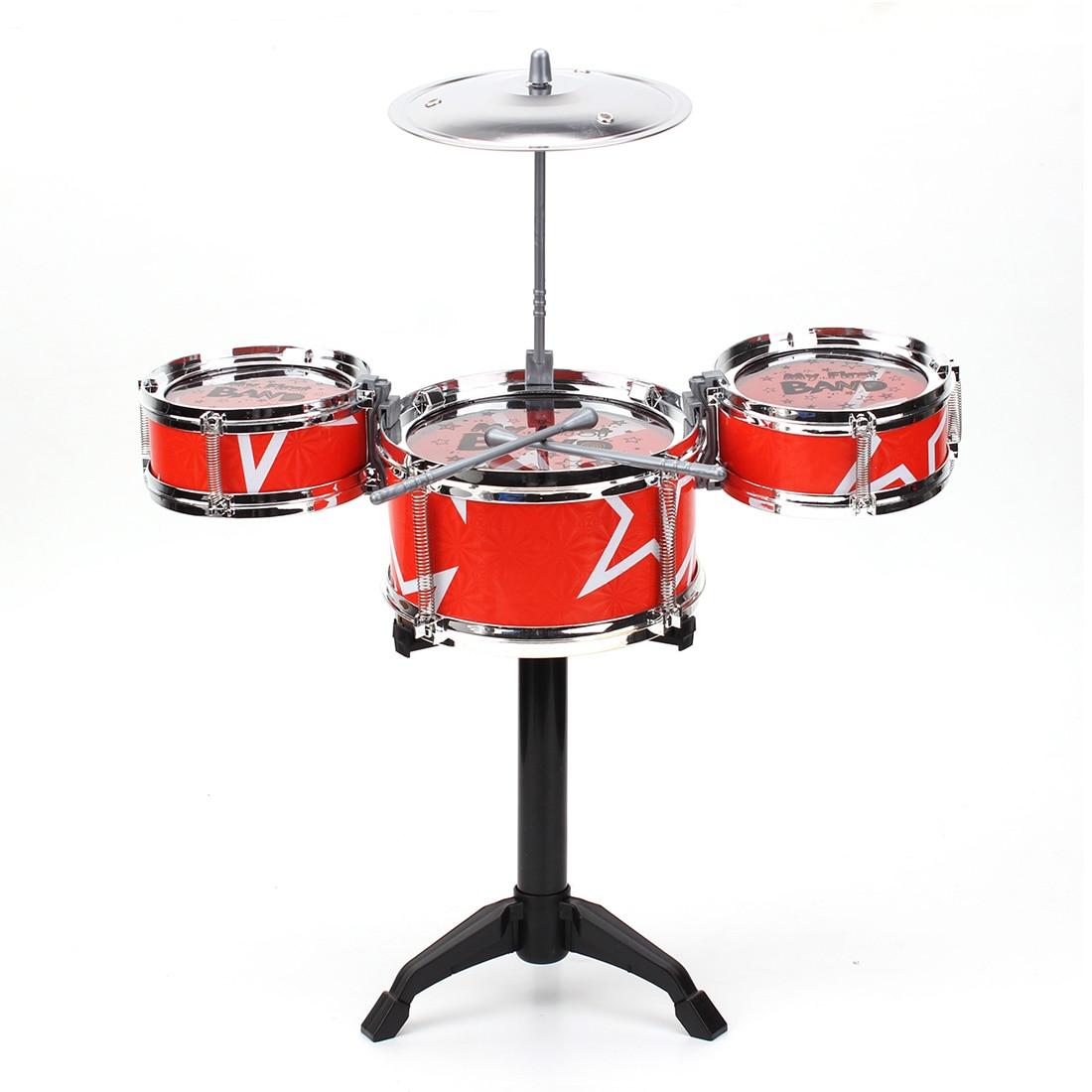 цена на Zebra Red Blue Kids Toys Drum Kit Set Of Toy Music Hand Knocking Percussion Instruments Kid Jazz Beating Drum
