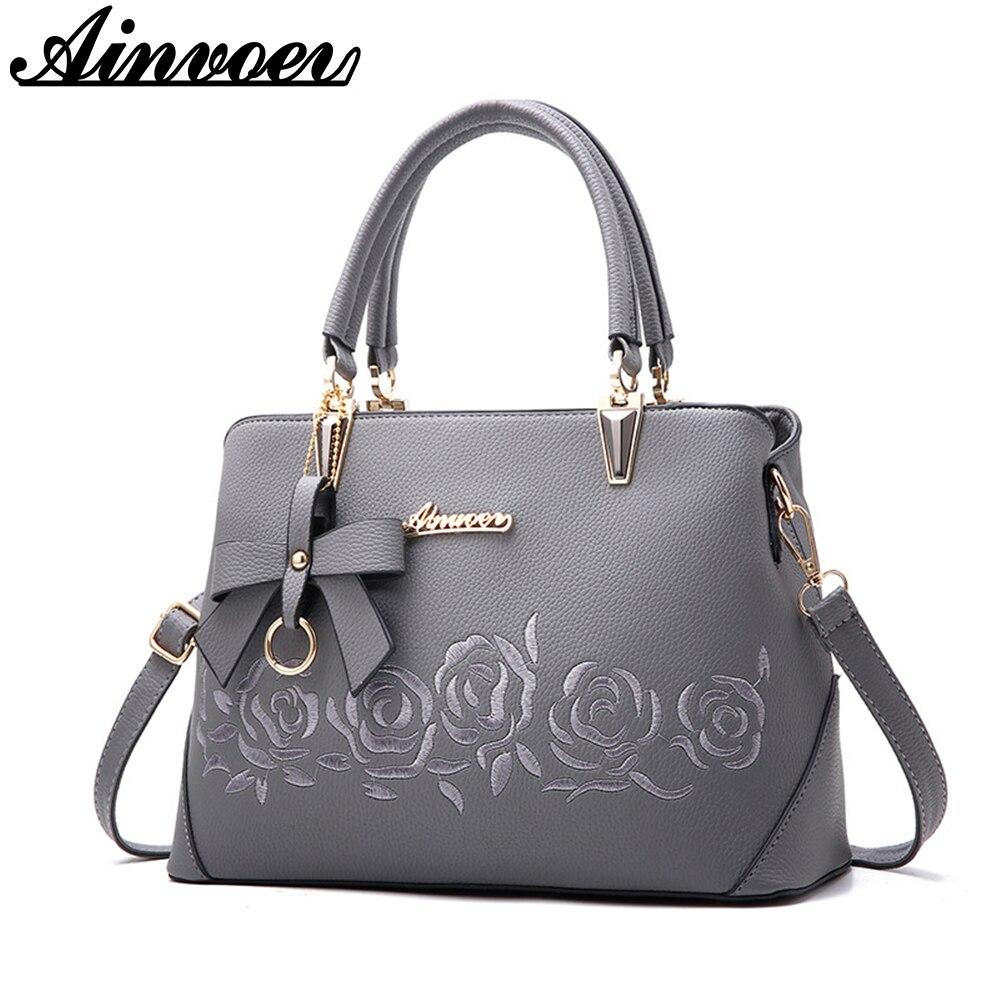 Ainvoev 2018 New Europe Fashion Trend Bag Women Handbag Fashion Shoulder Bag Printing Flowers Crossbody Bag