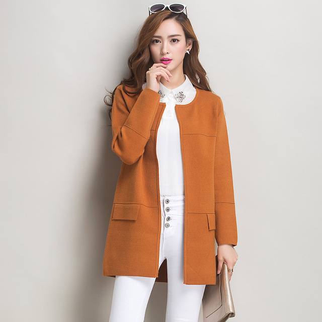 2016 New Fashion Autumn Long Open Stitch Trench Coat For Women Cardigan Outwear Knitting Loose Overcoat Female