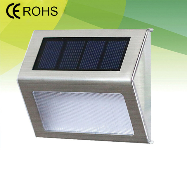 LED Power Outdoor IP55 Waterproof Solar Lamp Energy Saving wall lamp Street Home Garden Security light white Decoration