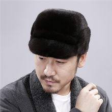 Visone cappello di pelliccia cappello di pelliccia del nuovo quarto  esercito inverno caldo visone cappello lingua 1df44249e07e