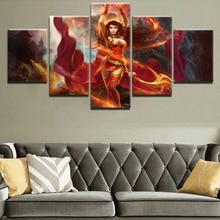 DOTA 2 Game Painting Wall Art Canvas Living Room ArtworkModern Decorative HD Print Canvas Printed 5 Pieces Home Print Poster свитшот print bar dota blood