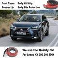 Carro lábios pára choques para Lexus NX 200 240 300 h / Spoiler carro Tuning / Body Kit tira / frente Tapes / Chassis corpo proteção lateral