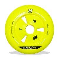 EGAL SUPER SAFT F1 Gelb Racing Skating Rad für Powersilde für MPC für CITYRUN 90mm 100mm 110mm inline Speed Skates Rad