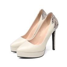 ISN-Snake Genuine Leather Heels