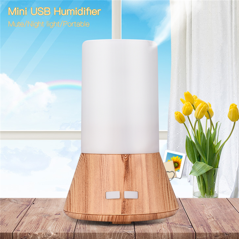 USB Charging Mini Humidifier Office Wood Grain Aroma Essential Oil Diffuser Aromatherapy Car Diffuser Air Purifier Mistorizer 0 mini car charge humidifier vehicle air humidifier essential oil aroma diffuser qc3 0 usb charging car air freshener purifier