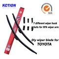 Car windshield wiper blade para toyota corolla, camry, prado tx, prius, avensis, venza, avalon, highlander, yaris, auris, rav4
