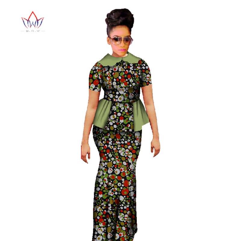 Plus Size 2019 Dashiki African Wax Print Rock Sets Traditionelle Kleidung für Frauen Bazin Riche Africa Zweiteiliger Rock Set WY397