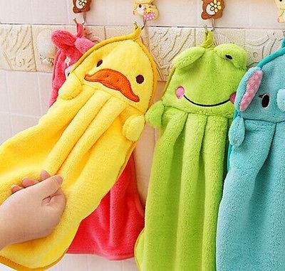 Hot Hot Baby Hand Towel Soft Children`s Cartoon Animal Hanging Wipe Bath Face Towel