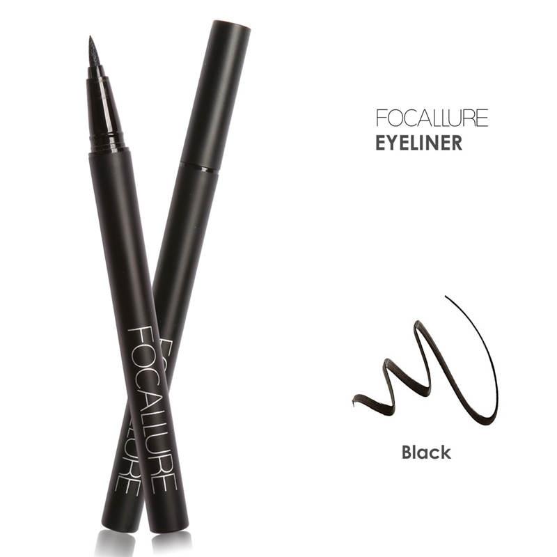 FOCALLURE Pro 3Pcs Eyes Daily Makeup Use Black Eyeliner Mascara and Eyebrow Cream 1
