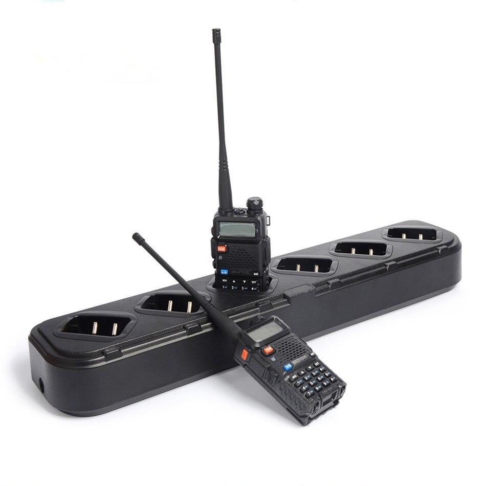 Chargeur Six voies pour Baofeng Pofung UV5R 5RE UV-5R talkie-walkie Portable talkie-walkie accessoires chargeur rapide universel