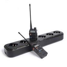 Seis Maneira Carregador de mesa para Baofeng Pofung UV5R 5RE UV 5R Walkie Talkie Walkie Talkies Portáteis Acessórios Carregador Rápido Universal