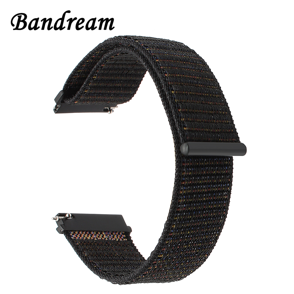 <font><b>20mm</b></font> 22mm Nylon Loop <font><b>Watchband</b></font> for Diesel Casio Citizen <font><b>Seiko</b></font> Fossil Quick Release Watch Band Canvas Strap Wristband Bracelet image