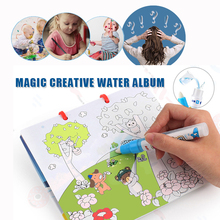 Repeated Use Kids Toys Magic Water Drawing Book Coloring Book With Magic Pen Painting Drawing Board Coloring Book toy water color book magic pen painting drawing board for kids toys magic water coloring book birthday boy and girl gift