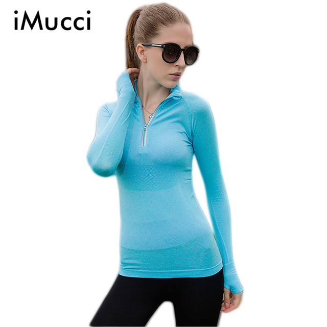 Autumn New Pullovers Women T shirt Long Sleeve Stand Collar Solid Breathable Zipper Casual Tops for Women Autumn T-shirt Women