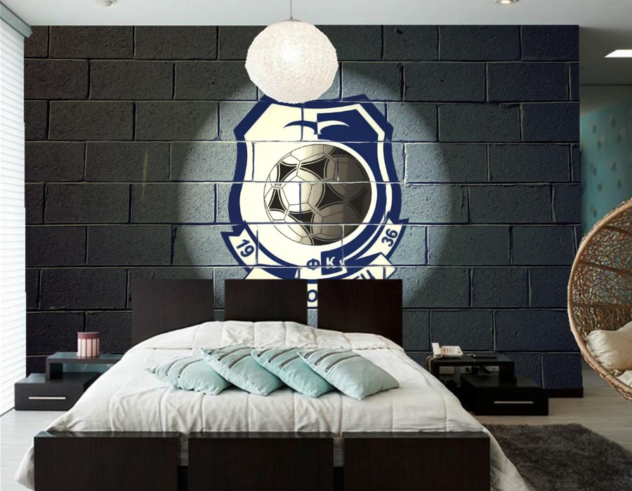 Custom Large Murals,Football Logo Sport Wallpaper Papel De
