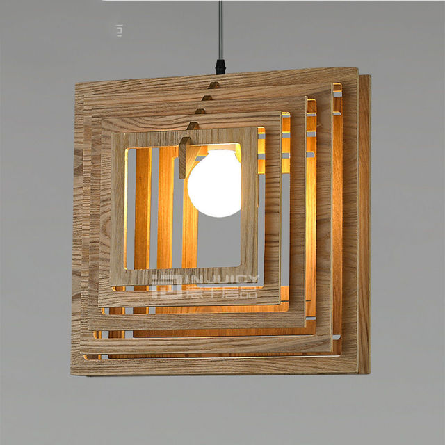Legno Giapponese E27 Led Ristorante Luce Del Pendente Lampada A