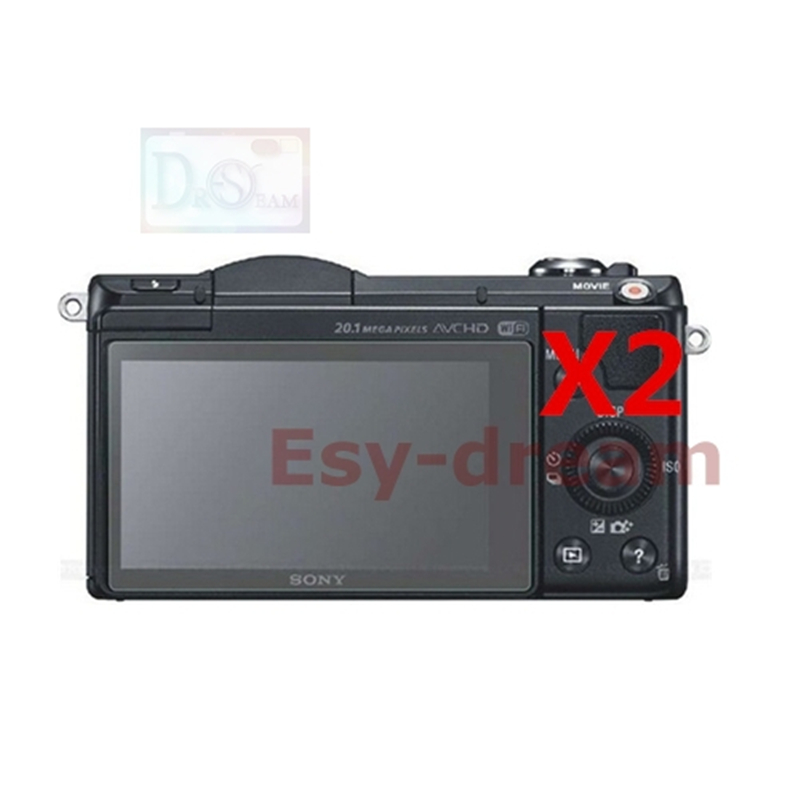2 sztuk wysokiej jakości wyświetlacz LCD ekran z tworzywa sztucznego folia ochronna dla Sony NEX 3N 6 7 NEX6 NEX7 A5000 A5100 A6000 A6300 A6400 A6500