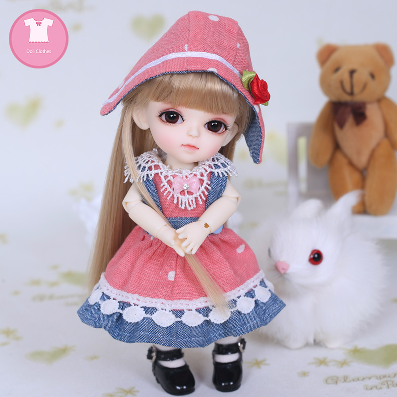 Free Shipping BJD Clothes 1/8 Cute Mini Dress Or Suit For Lati Yellow Lumi Haru Sunny Body Doll Clothes Accessories OUENEIFS
