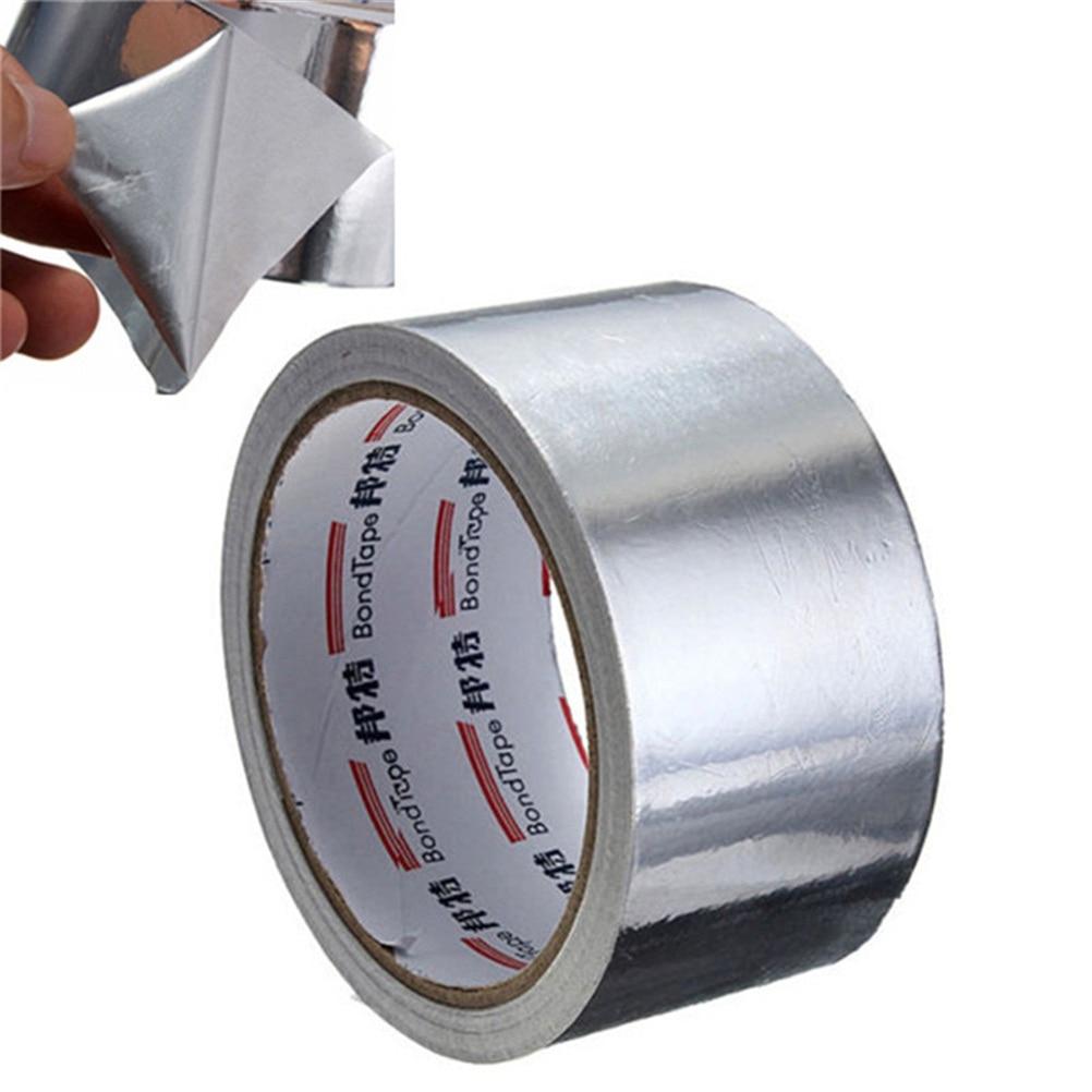 Fita adesiva da folha de alumínio útil da selagem adesiva da folha 5cm * 17m resistência térmica do duto reparos de alta temperatura