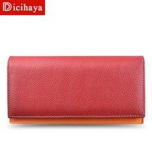 Женский кошелек, роскошный бренд, натуральная кожа, длинный женский клатч, кошелек, большая вместительность, Дамский кошелек, дизайнерская сумка для денег, цена в долларах