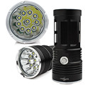 High Quality 25000LM   10 x   XM-L T6 LED Flashlight Torch 4 x 18650 Hunting Lamp