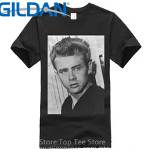 Custom Printed Shirts Crew Neck New Style Short Sleeve James Dean  Mens Tee Shirt