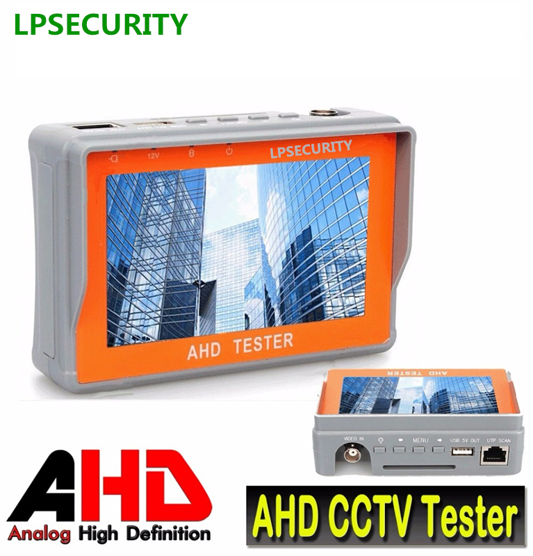 LPSECURITY Portable 4.3 LTPS LCD 1080P Analog CCTV Camera Display AHD Monitor Tester 12V-Output with PTZ function