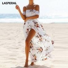 LASPERAL Boho Beach Vestito Delle Donne di Estate Abiti In Chiffon Boho  Maxi Vestito Abiti Lunghi 71ba8f5eb0b