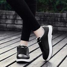 AURONET Summer New White Shoes Fashion Women Flat Casual Sho