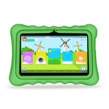 Yuntab Q88H 7 pulgadas de pantalla táctil Tablet Niños, niños Juegos y Aplicaciones de Software Para la Educación Pre-instalado con Elegante del Caso del soporte (verde)