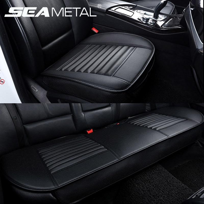 Universal 5d tampas de assento do carro couro do plutônio capa de assento automóvel quatro estações coxim tampas de automóveis conjunto esteira acessórios interiores do carro