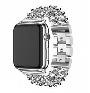Для Apple Watch Band 44 мм 42 мм 40 мм 38 мм сменный ремешок из нержавеющей стали браслет для iwatch serise 5 1 2 3 4