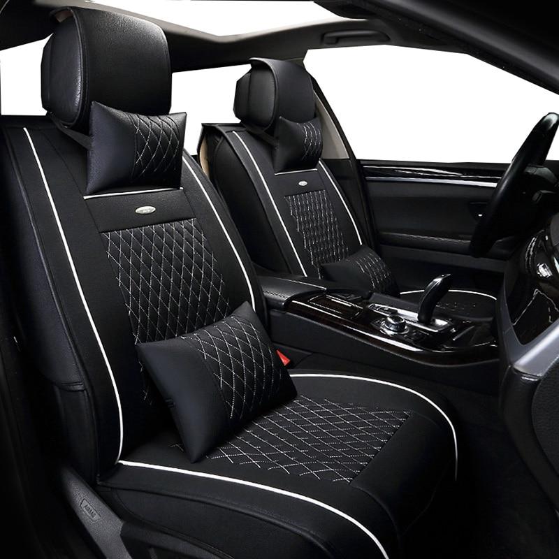 New PU Leather Auto Universal (front+back ) Car Seat Covers for Renault Kangoo Kaptur Koleos Laguna 2 Latitude Logan saab 93 95