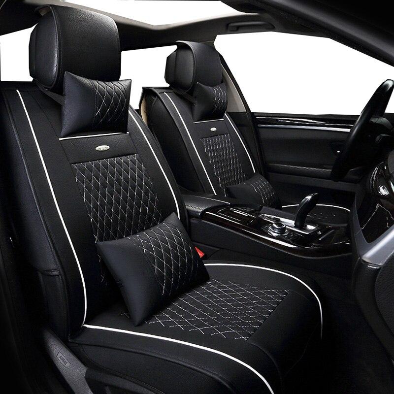 Nouveau couvre-siège Auto universel en cuir PU (avant + arrière) pour Renault Kangoo Kaptur Koleos Laguna 2 Latitude Logan saab 93 95