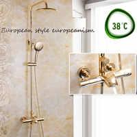 Europäischen titanium gold konstante temperatur dusche wasserhahn heißen und kalten sprinkler dusche TAP