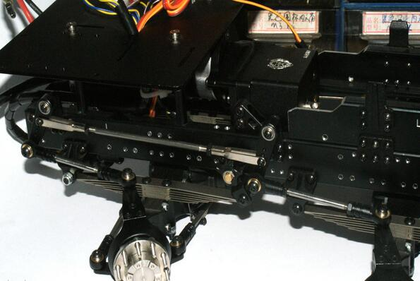 Für 1//14 8*8 RC Traktor Tractor Dump Truck Trailer Tamiya Steering Linkage Rod N