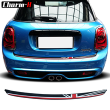 цена на Car Styling Soft Rubber Rear Bumper Trunk load edge Protector Guard Trim Decal stickers for MINI Cooper F55 F56 Hatchback